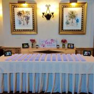 Place card table at the Red Barn
